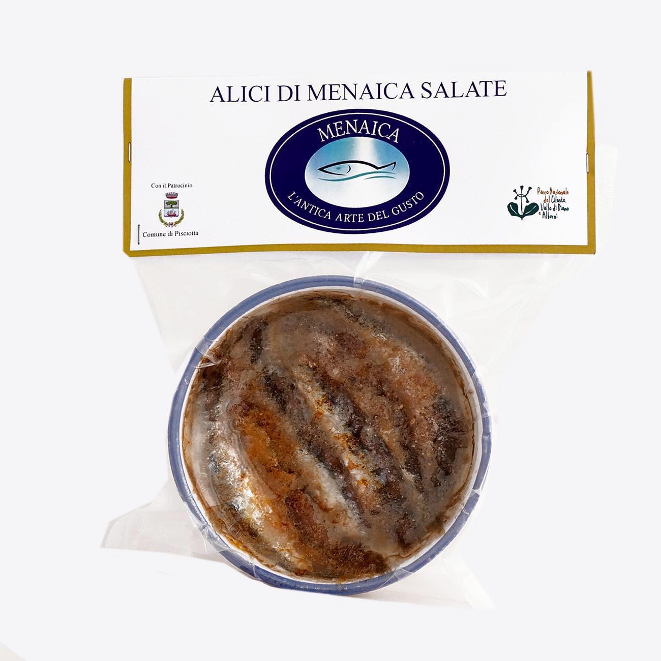 Alici di Menaica sotto sale